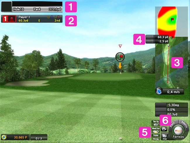 ゴルフシミュレーター画面